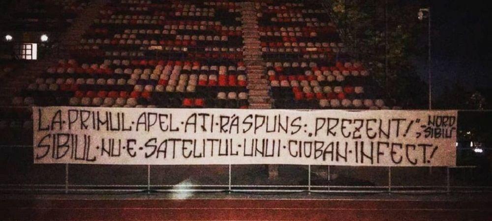"""""""Sibiul nu e satelitul unui cioban infect!"""" Reactie DURA a suporterilor lui FC Hermannstadt dupa imprumuturile lui Caiado si Karanovic la FCSB!"""