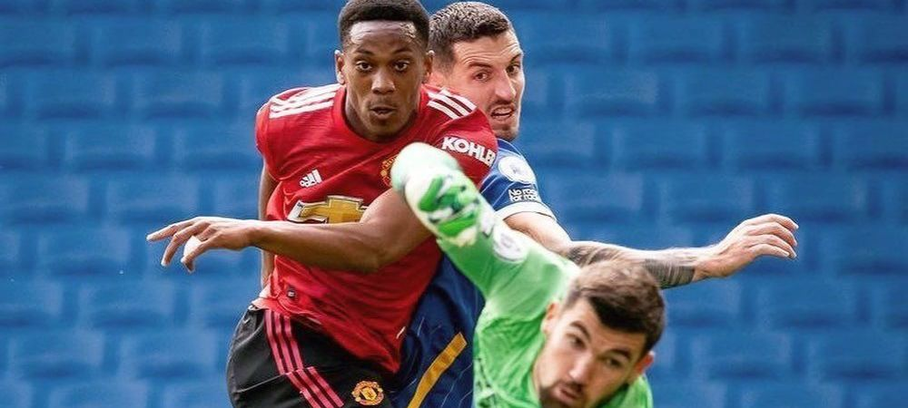 Meci INCREDIBIL in Premier League! Manchester United castiga la Brighton cu un penalty acordat dupa fluierul final! Brighton a lovit bara de 5 ori