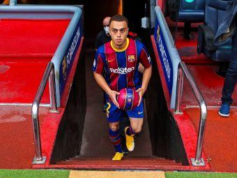 Prezentare cu emotii pentru Sergino Dest pe Camp Nou! Cum a gafat fotbalistul la prima atingere de balon in tricoul catalanilor