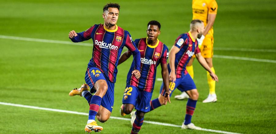 SUPER FAZA la golul Barcelonei cu Sevilla: Coutinho, primul gol pentru Barca dupa un an si jumatate dupa o pasa GENIALA a lui Messi! VIDEO