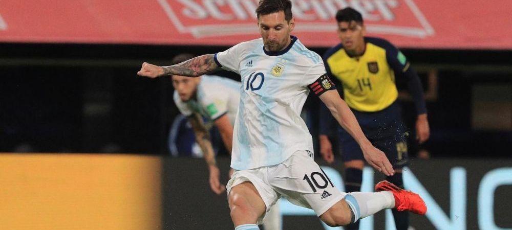 Lionel Messi a adus PRIMA victorie a Argentinei din preliminarii! Argentina s-a chinuit efectiv cu selectionata Ecuadorului! CAPITOLUL la care se bate cu Luis Suarez