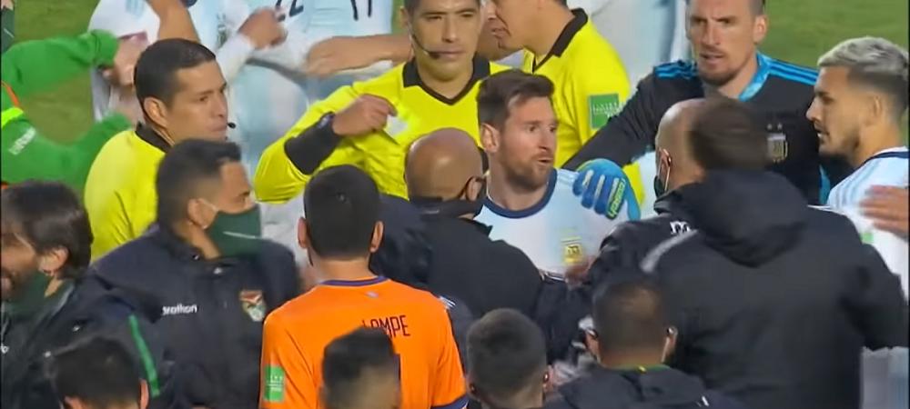 """Imagini incredibile cu Leo Messi! Starul argentinian, FURIOS la finalul meciului cu Bolivia: """"Care-i treaba, idiotule?"""""""