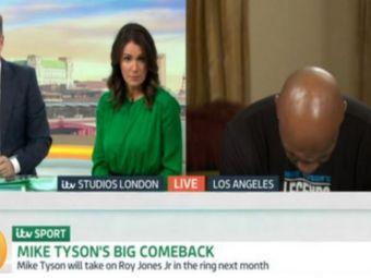 Mike Tyson a socat la ultima aparitie! Boxerul era sa ADOARMA chiar in timpul unui interviu la televizor! Cum a explicat momentul