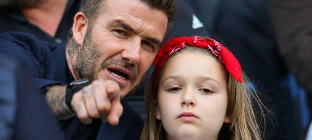David Beckham si-a sarutat fiica de 9 ani pe BUZE si a declansat o FURTUNA de critici. Cine a sarit in apararea fostului fotbalist