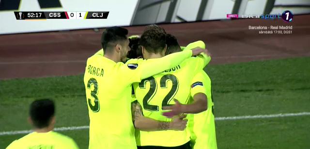 TSKA Sofia 0-2 CFR Cluj   Start PERFECT pentru Dan Petrescu si jucatorii sai! CFR, lider dupa primul meci din grupele Europa League