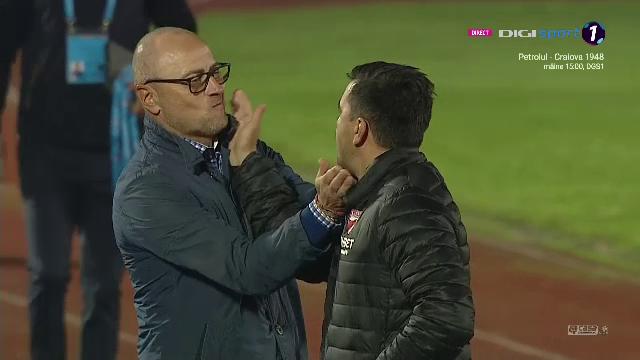 Contra l-a luat la PALME pe Leo Grozavu! Momentul nevazut de nimeni inainte de Sepsi-Dinamo! Ce au facut cei doi antrenori