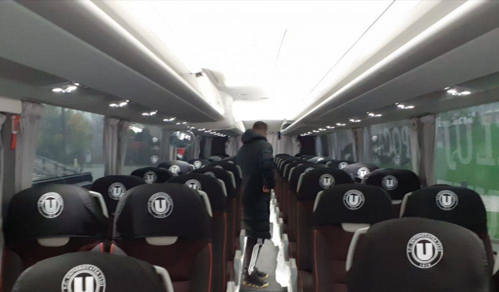 Imagini SPECTACULOASE cu noul autocar al lui U Cluj! Cum poate arata bijuteria cu care se vor deplasa fotbalistii