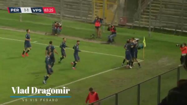 TUNUL lui Vlad Dragomir i-a adus victoria Perugiei! Gol SUPERB pentru romanul crescut de Arsenal! Cum a marcat