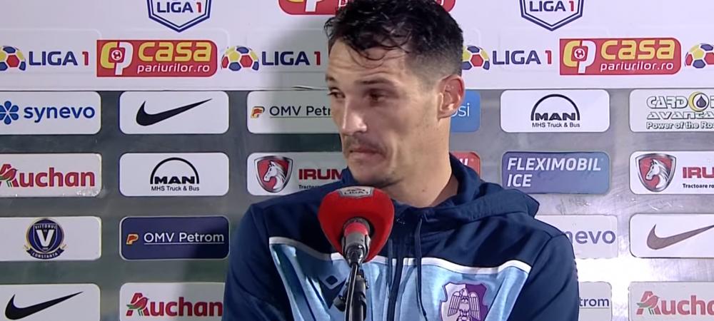 """Cel mai sincer fotbalist din Liga 1! :)) Fostul stelist Matei, genial cand a explicat penalty-ul facut la Matan: """"E mic, nu l-am vazut!"""" VIDEO"""