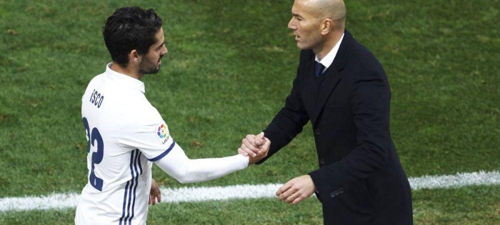Isco l-a ironizat pe Zidane in timpul derby-ului cu Barcelona! Ce le-a spus fotbalistul de la Real Madrid colegilor sai de pe banca