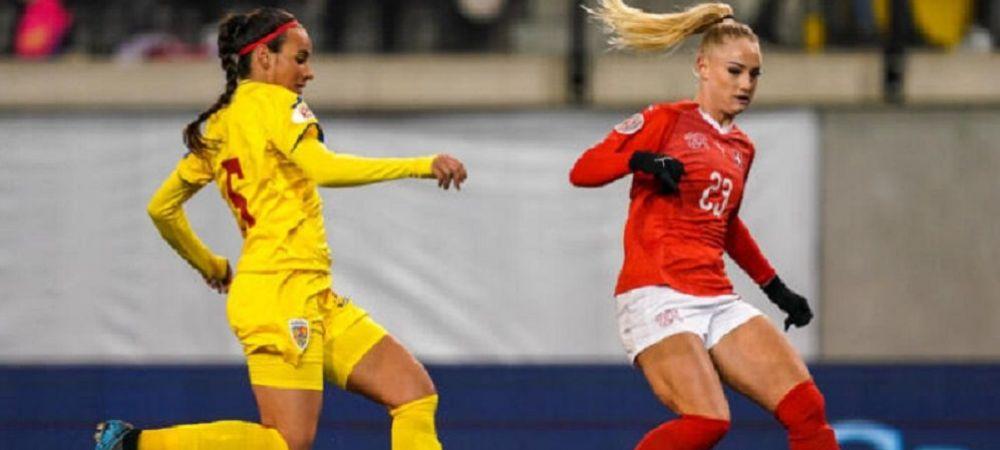 Infrangere pentru nationala de fete in fata celei mai tari echipe din grupa de Euro:Romania 0-2 Elvetia! Ce urmeaza pentru romance
