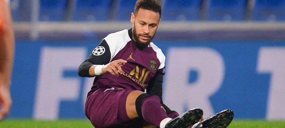 Cosmarul accidentarilor lui Neymar continua! Cat va lipsi brazilianul dupa ce s-a rupt in meciul de Champions League