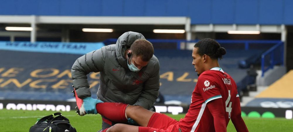 Virgil van Dijk s-a operat dupa accidentarea HORROR din meciul cu Everton! Ce se va intampla in perioada urmatoare cu cel mai bun fundas din lume