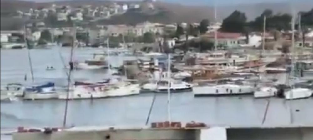 Au plecat BARCILE din port! Incredibil: imagini soc dupa cutremurul din Turcia! Vasele au PLECAT de pe loc