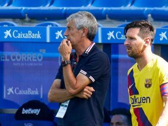 """Nu iti convine, acolo e usa!"" HALUCINANT ce i-a putut spune Setien lui Messi in vestiar, dupa remiza cu Celta"