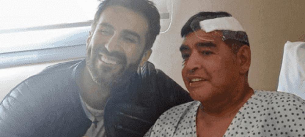 Imaginea asteptata de milioane de oameni! Prima fotografie cu Maradona dupa ce a fost operat pe creier! Cum arata legenda argentiniana
