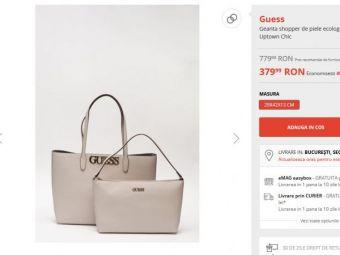 Black Friday pe Fashion Days iti rezolva problema cadourilor de Craciun pentru iubita! :) Geanta Guess la doar 379 RON dupa o reducere de 51%! Super-ofertele pe care nu le poti RATA