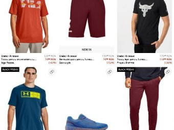 Articolele Under Armour, reduse cu pana la 60%! Pantalonii pentru sport costa acum doar 169,99 de lei! Aici ai CELE MAI BUNE PRETURI de Black Friday