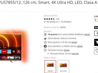 Televizor Philips 4K Ultra HD, 126 cm redus 33%! De la 2699 lei a ajuns 1799 lei daca il cumperi acum! Boxe profesionale Events la doar 349 lei! Au fost reduse 30%!
