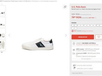 Pantofi sport U.S Polo Assn, la DOAR 79.99 de LEI! Reduceri de pana la 80% la incaltaminte pe Fashion Days! Vezi toate ofertele nebune de Black Friday