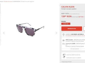 Ochelari de soare Calvin Klein, redusi 79%, la doar 139.99 lei! Si la parfumurile Calvin Klein sunt reduceri de Black Friday pe Fashion Days: Euphoria Man, la 73.99 lei