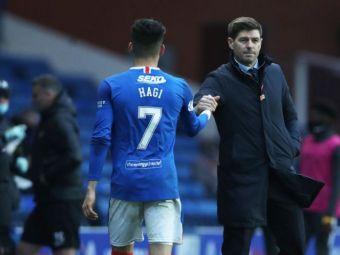 """""""Nu are cifre rele pentru varsta lui! Gerrard ii da o lectie ca sa il motiveze!"""" Sansa pentru Ianis Hagi sa revina in primul 11 al lui Rangers"""