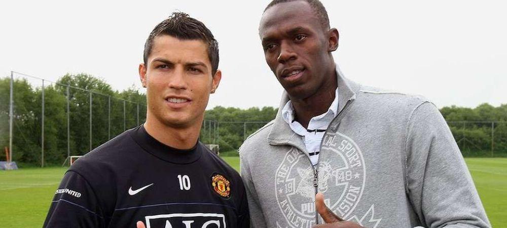 """Usain Bolt, invins de Cristiano Ronaldo! """"E mai rapid decat mine!"""" Fostul mare atlet e uluit de starul portughez"""