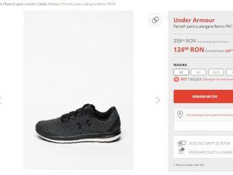 Pantofi pentru alergare Under Armour, la super reducere! 124.99 LEI, de la 359.99, doar de Black Friday la Fashion Days