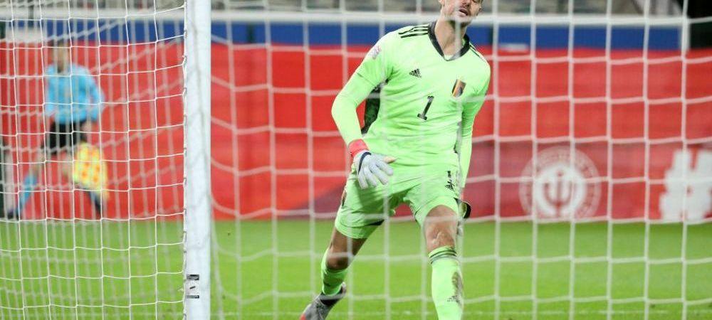 Sa speram ca nu s-a uitat Zidane la meci! :) Gafa IMENSA a lui Courtois in meciul cu Danemarca! Ce gol a putut sa isi ia
