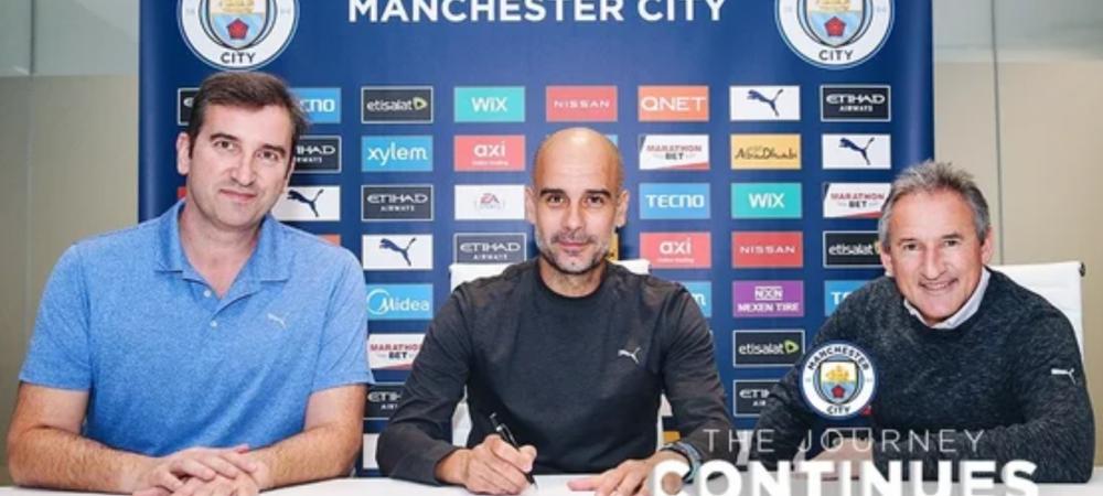 Guardiola si-a prelungit contractul cu Manchester City! Anuntul OFICIAL al clubului