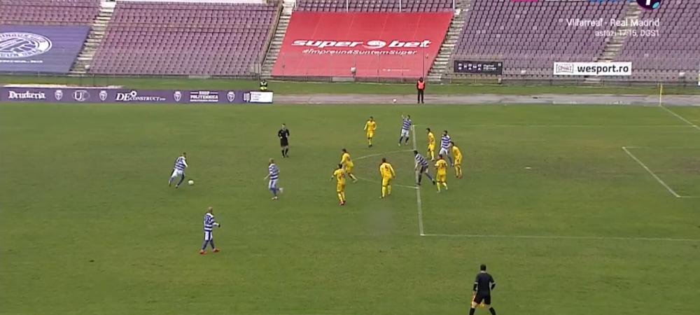SUPER GOL marcat in ASU Poli Timisoara-Petrolul Ploiesti! Banatenii au inscris un gol pe care il vedem rar in Liga 1