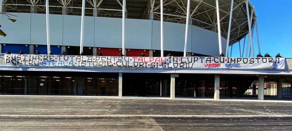 Fanii CSA au afisat mesaje de sustinere pentru Talpan! Ce asigurari a facut Marius Lacatus