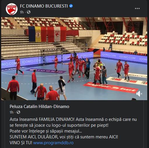 Pana si canalul OFICIAL DE FACEBOOK al lui Dinamo il distruge pe Cortacero si pe noii sefi de la Dinamo! Ce mesaj au distribuit