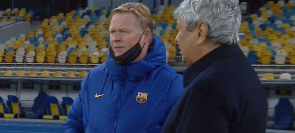 """""""E o nebunie!"""" Koeman i-a dezvaluit lui Lucescu cat va lipsi Pique! Dialogul celor doi a fost surprins de camere! Ce au vorbit"""