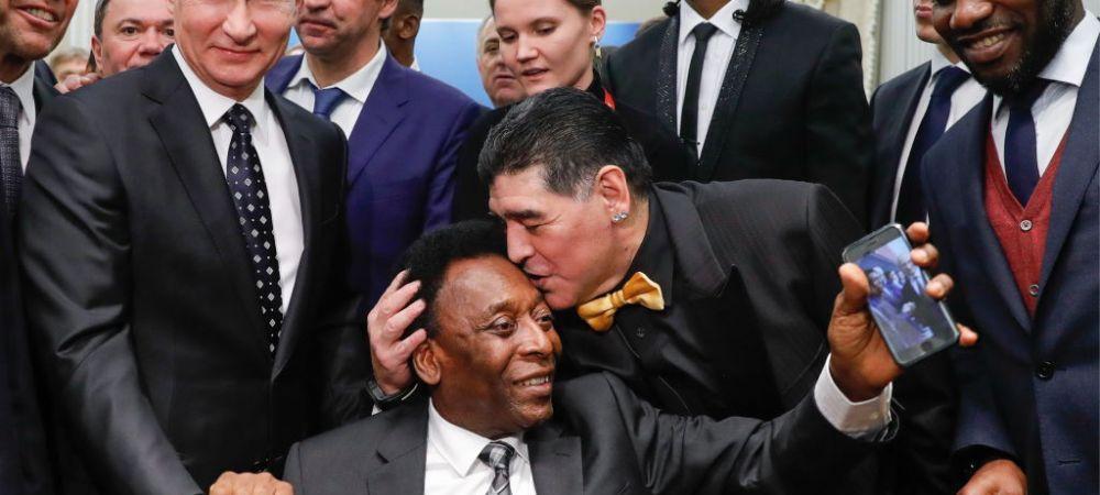 """Reactia de ULTIMA ORA a lui Pele dupa ce a aflat de DECESUL lui Maradona: """"Sper ca intr-o zi sa jucam impreuna fotbal in ceruri!"""""""