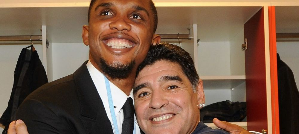 """""""Maradona e Dumnezeu, iar Dumnezeu nu moare niciodata!"""" Reactia lui Eto'o dupa SOCUL mortii lui Maradona! Ce a spus camerunezul"""