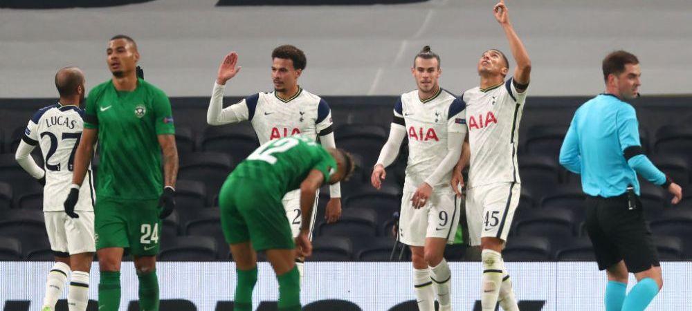 Spectacol al echipei lui Mourinho in fata romanilor: Tottenham 4-0 Ludogorets   Slavia s-a impus cu 3-1 la Nice!   Patru echipe s-au calificat in primavara europeana