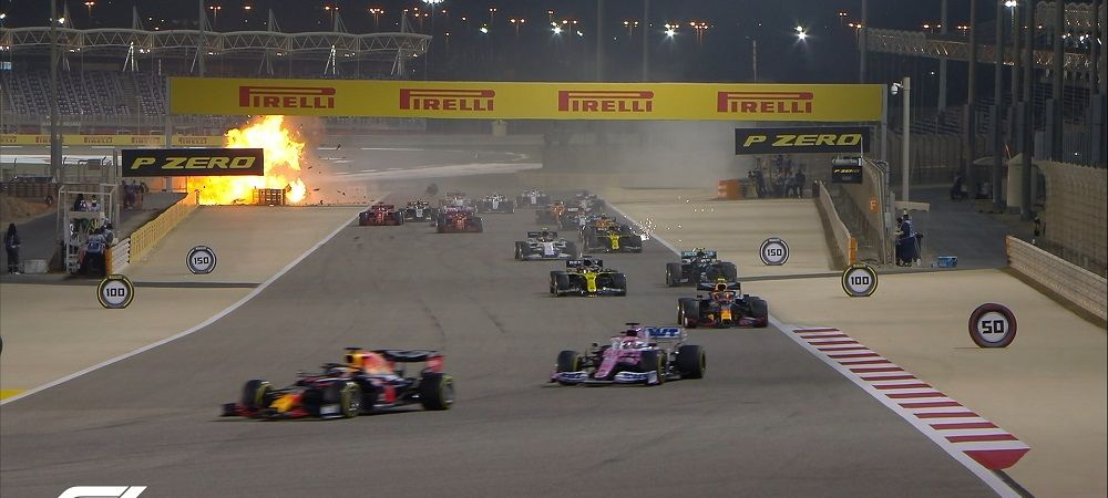 Accident HORROR in Formula 1!VIDEO cum a scapat Grosjean dupa ce masina a luat foc si s-a rupt in doua