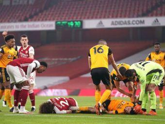 Moment HORROR in Premier League! Raul Jimenez, lasat inconstient pe teren de David Luiz: diagnosticul mexicanului, SOCANT