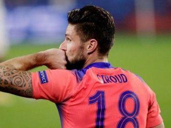 Giroud a egalat o performanta veche de 62 de ani! Cele patru goluri contra Sevillei l-au pus intr-un top select alaturi de Di Stefano