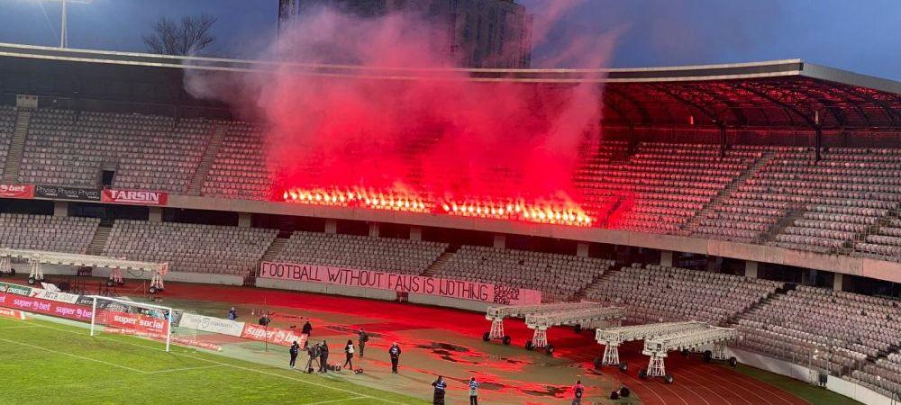 """SHOW PIROTEHNIC SPECTACULOS in Liga 2! Chiar daca suporterii nu au voie pe stadion, Cluj Arena a luat """"FOC"""" la meciul cu Dunarea Calarasi"""