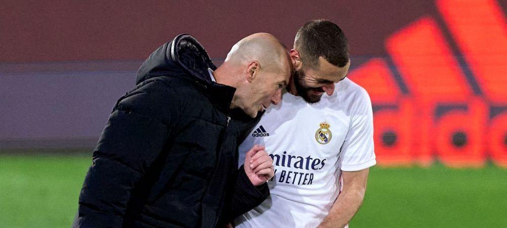"""Zidane, impresionat de forma prin care trece atacantul lui Real Madrid: """"Este clar, Benzema este cel mai bun atacant francez din toate timpurile!"""""""