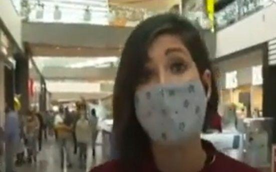 VIDEO Ce-a fost asta? O jurnalista isi prezenta STIREA, dar ce s-a petrecut in spatele ei e INEXPLICABIL