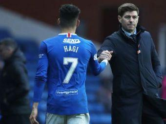 """Reactia lui Gerrard dupa ce Ianis Hagi i-a adus lui Rangers cele 3 puncte! """"Sunt din nou foarte multumit de el, este intr-un moment bun!"""""""