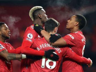 Manchester United invinge revelatia sezonului din Premier League si o egaleaza pe Liverpool in fruntea clasamentului! Bruno Fernandes a marcat din nou pentru echipa lui Solskjaer