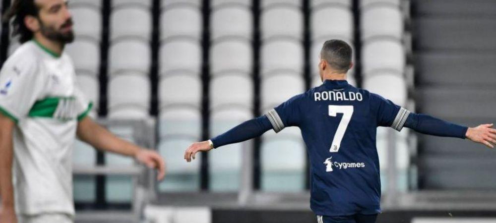 ISTORIC! Ronaldo l-a ajuns pe Bican si e pe PRIMUL LOC in topul mondial al marcatorilor dupa golul reusit cu Sassuolo!