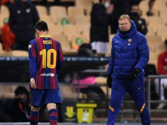 Premiera SOC pentru Leo Messi la Barcelona! A vazut pentru prima data CARTONASUL ROSU! Motivul absurd al eliminarii starului argentinian