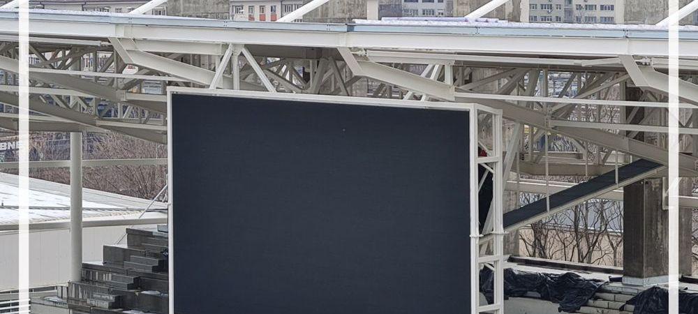 Noi imagini cu BIJUTERIA de 33.5 de milioane de euro din Giulesti! Stadionul e aproape de finalizare. Au fost montate tabelele