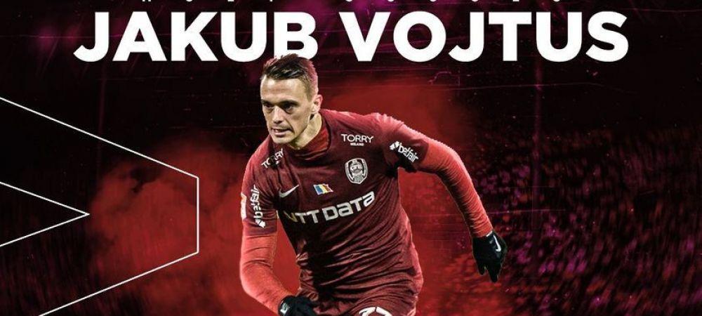 OFICIAL | CFR s-a despartit de Jakub Vojtus! Atacantul va merge in prima liga din Ungaria