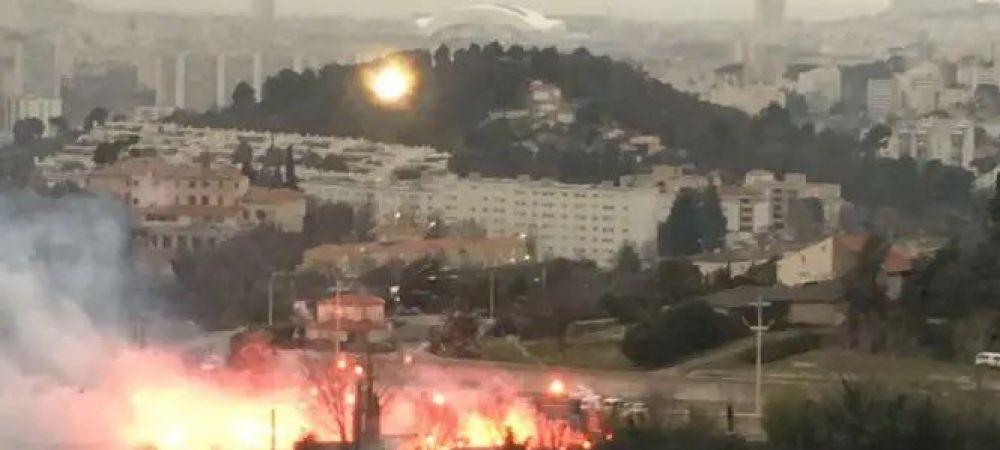 BREAKING NEWS | Imagini SOCANTE in Franta! Fanii au dat foc la baza de antrenament al lui Marseille si incearca sa intre peste presedintele clubului